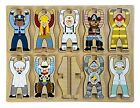 Melissa & Doug Stacking Wooden Chunky Puzzle Jobs People Do Occupations