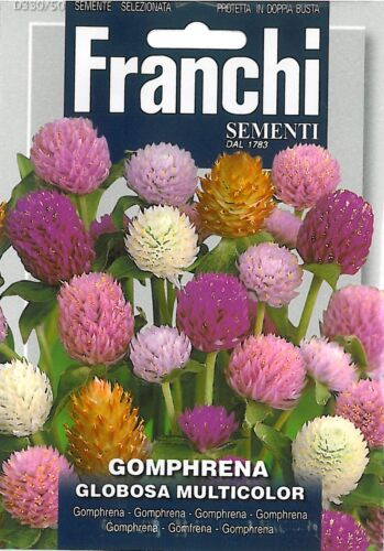 Franchi Seeds Everlasting Gomphrena Globosa Multicolour seeds