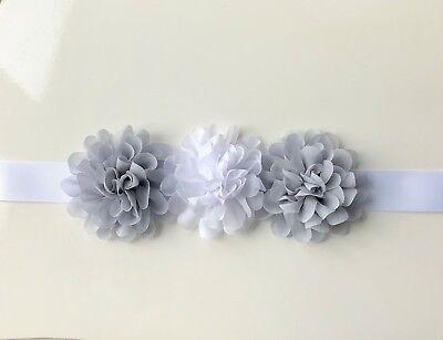 Bespoke Floreale Fiore Ragazza Cintura/telaio, Bianco E Grigio O Scegli I Colori-mostra Il Titolo Originale Belle Arti