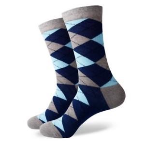 Mens-Crew-Dress-Socks-Argyle-Torr-Sock-Patterned-Happy-Colourful