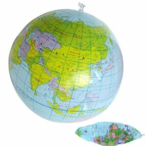 Geography PVC Balloon Ball Educational 16 Inch Globe Toys Inflatable World Map