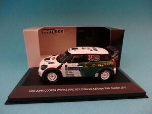 MINI-COOPER-WRC-23-NIKARA-RALLY-SWEDEN-2013-1-43-NEW-IXO-WHITEBOX-WBR015