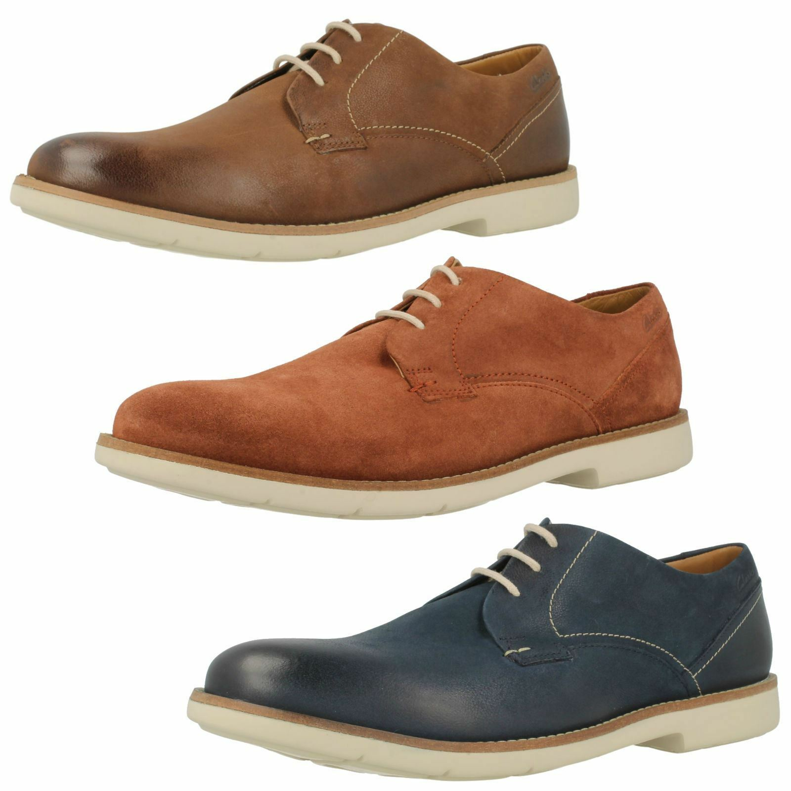 Mens Clarks Casual Lace Up shoes Raspin Plan