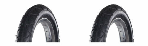 "2 X Kenda K909A 10/"" X 2/""  Bicycle Scooter Pushchair Tyre Black KT03A"
