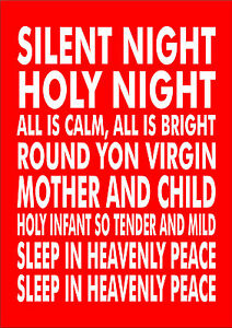 picture regarding Silent Night Lyrics Printable called Data pertaining to Tranquil Night time Holy Night time Xmas Carol Lyrics Print Poster Unique Measurements