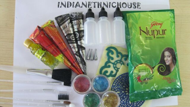 The Complete Henna Kit for Body Tattoo -Kids Party - Fundraising Event - Wedding