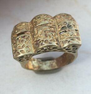 Rare-Ancient-Solid-Ring-Roman-BRONZE-Stunning-Artifact-vintage-Rare-type