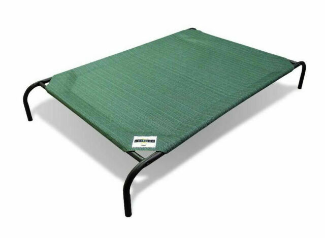 Large Coolaroo Elevated Pet Bed Dog Cot Raised off Ground Steel Frame Green