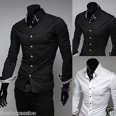 2016 New Mens Fashion Formal VSS Slim Fit Dress Shirt