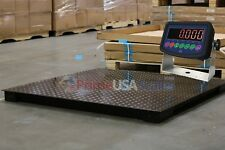 Floor Scale Heavy Duty Platform 5x5 60x60 5000 Lb By 05 Lb Accuracy