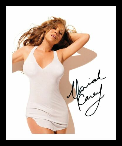MARIAH CAREY AUTOGRAPHED SIGNED /& FRAMED PP POSTER PHOTO 3