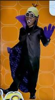 Minions - Minion Dracula Black Purple Yellow Costume M (8-10) Rubies 610782
