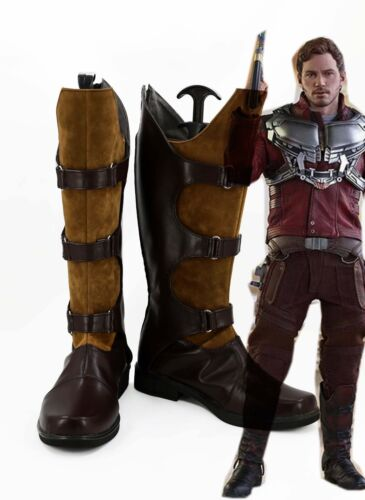 new Guardians of the Galaxy Star Lord Peter Jason Quill Cosplay Boots Shoes A068