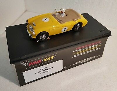Kinderrennbahnen Just Qq Pink Kar Cv048 Austin Healey 3000 Gelb Yellow In Original Label Schachtel Attractive And Durable