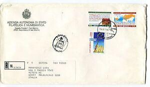 1999 Fdc San Marino 50° Consiglio Europa 125°upu Raccomandata First Day Cover Forme éLéGante