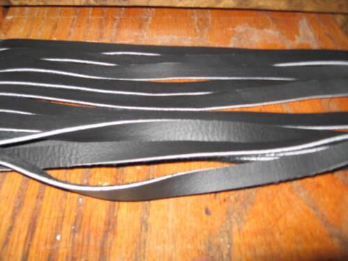 6 GENUINE TOP GRAIN LEATHER SADDLE STRINGS 42 IN BLACK 3//8 inch