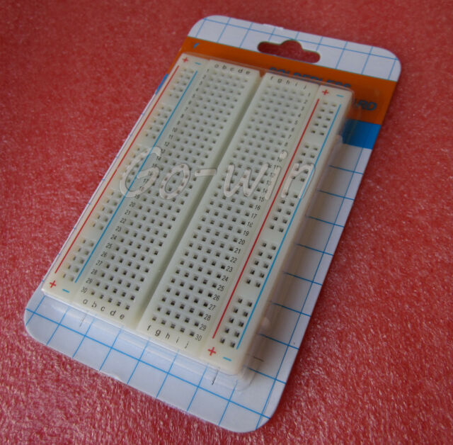 2PCS Mini Universal Solderless Breadboard 400 Contacts Tie-points Available