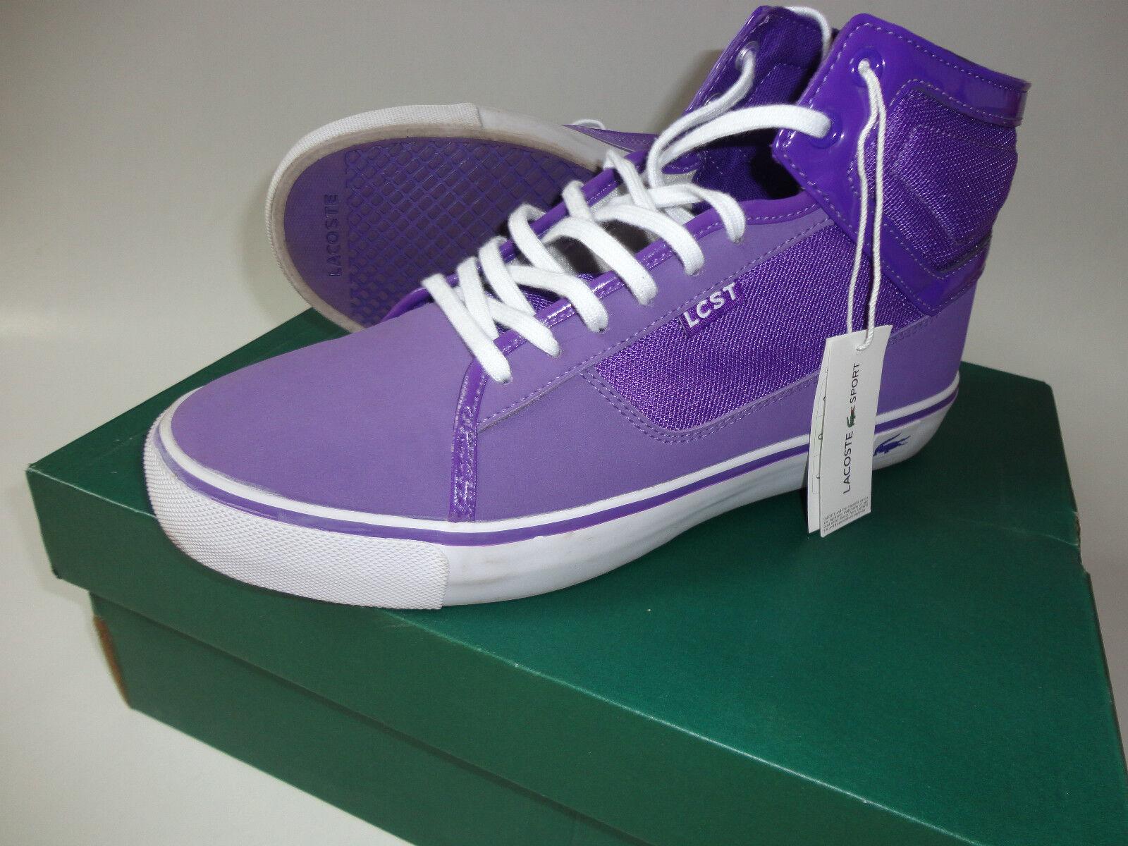 Lacoste lila Sport Freizeitstiefel Sneaker Schuhe Gr.41 42 lila Lacoste wie Neu Jeans Jacke 9bd618