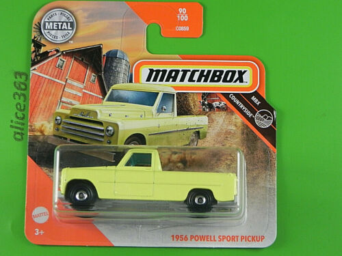 neu in OVP Matchbox 2020-1956 Powell Sport Pickup 90 Countryside