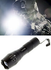 Tactical XML-T6 High Zoom LED Military Flashlight Navy Seal Police 2000 Lumens!
