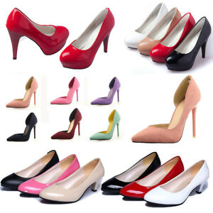 Womens-Stilettos-High-Heels-Pointed-Toe-Court-Shoes-Ladies-Pumps-Size-More-Color