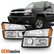 Fit 2002 2006 Chevy Avalanche Body Cladding Model Headlights Bumper Lights Set Fits More Than One Vehicle