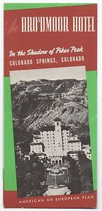 1950s Brochure The Broadmoor Hotel Colorado Springs CO