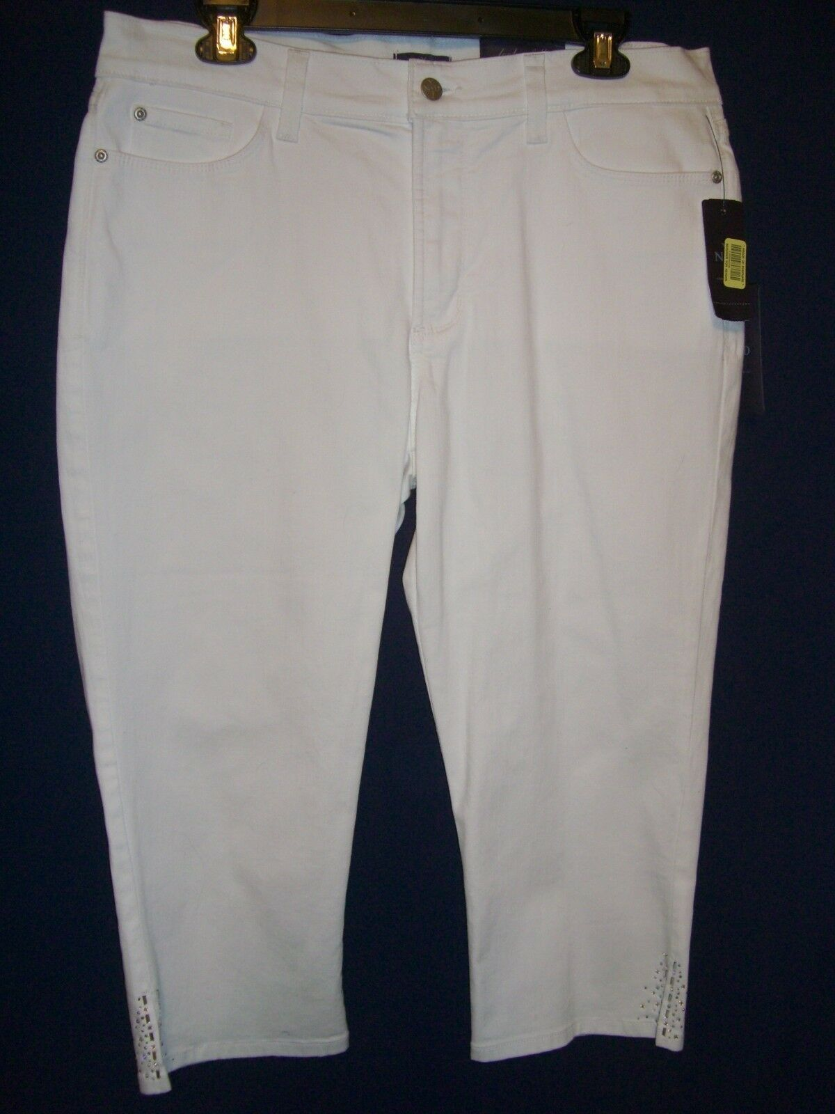 NYDJ NOT YOUR DAUGHTER'S JEANS Optic White Cropped Capri Pants  14P Petite - NWT