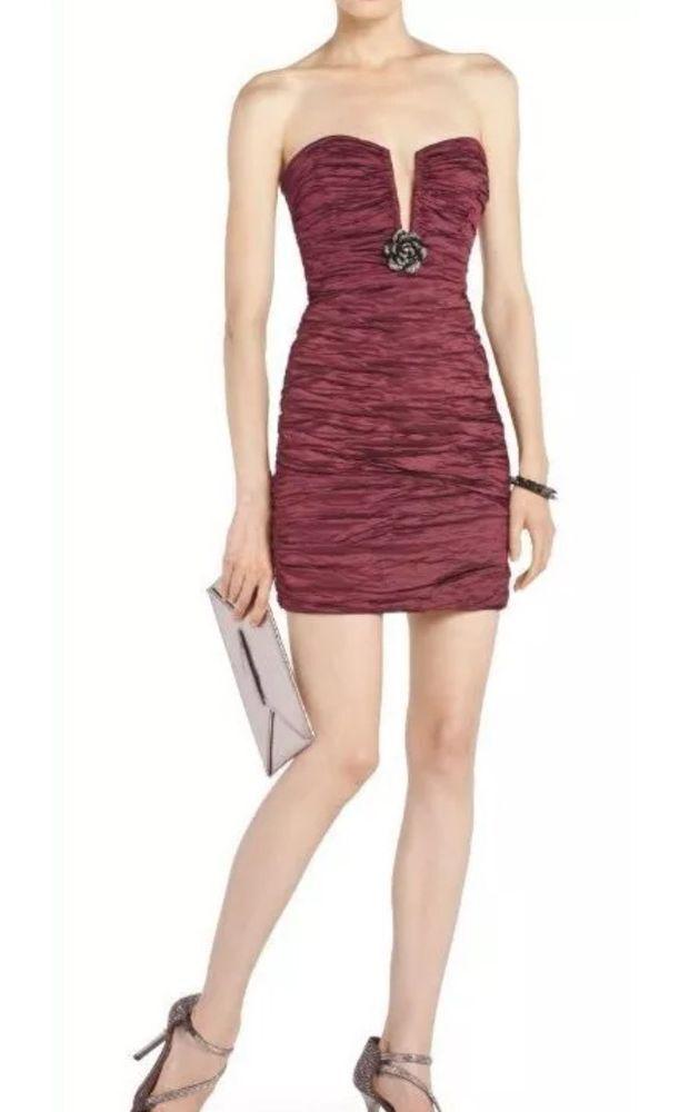 New Bcbg max azria Dress TRISTINA Strapless Ruby Prom dress SZ 08=29  Authentic