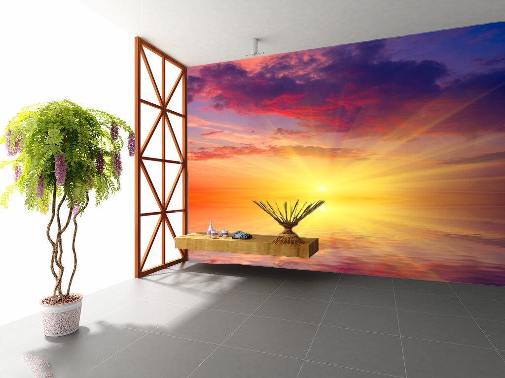 3D Der Himmel ROT, marine 435 Fototapeten Wandbild Fototapete BildTapete Familie