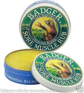 NEW-BADGER-COMPANY-SORE-amp-ACHE-JOINT-RUB-MUSCLE-PAIN-PAINFULL-CALMING-BODY-CARE