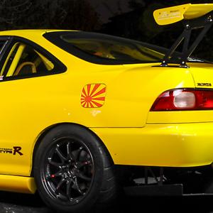 2 psc Rising Sun JDM Flag Japan Fuel Tank Decal sticker honda dapper illest