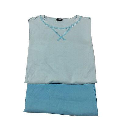 F4 Gbm Eu50 Non-Ironing Considerate Triumph Pyjama Homme Court Céleste 100% Coton It50