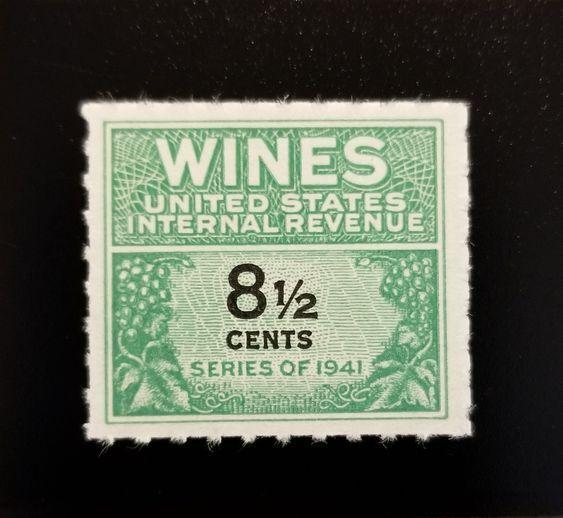 1951 8 1/2c U.S. Internal Revenue, Cordial & Wine, Gree