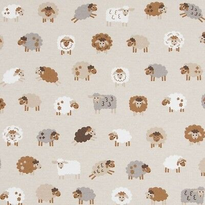 """Scandi Flowers Design Cotton Rich Linen Fabric Curtaining /& Upholstery 54/"""" Wide"""