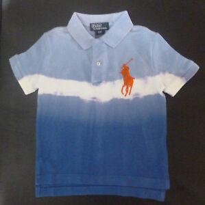 8e39d4c8 Boys RALPH LAUREN large pony bleach/tie dye look polo Shirt 2T & 3T ...
