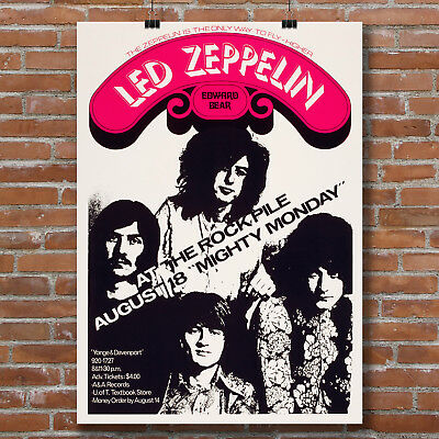 Led Zeppelin concert poster at The Rock Pile canvas print