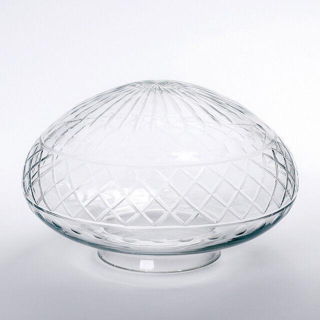Jugenstil Ersatzglas mit Kragenrand klar in vielen Größen Ersatzglas Griffrand  | Neu