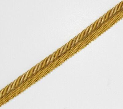 Bello Legatura Flangiato/tubazioni 8 Mm Cavo, Oro/crema X 2/5/10 Metri, - Pl-4233-mostra Il Titolo Originale Giada Bianca