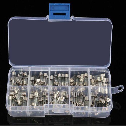 100 Stück 5x20mm Feinsicherung Glasrohr Glassicherung Sicherung Set 0.25A~6A