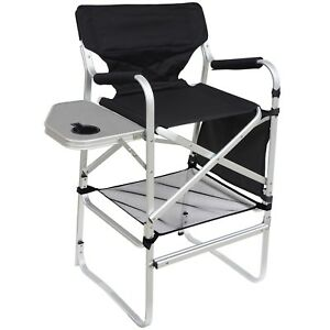 Brilliant Details About Deluxe Folding Bar Height Heavy Duty Aluminum Frame Director Chair Onthecornerstone Fun Painted Chair Ideas Images Onthecornerstoneorg