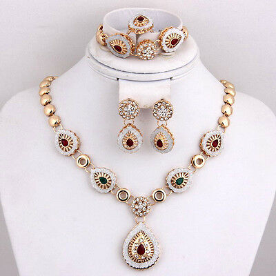 Fashion Wedding African Jewelry Sets Gold Plated Necklace Bracelet Earrings Set