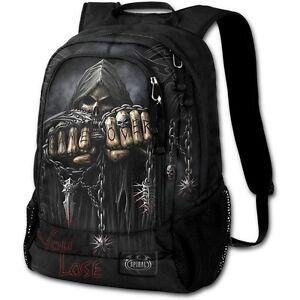 SPIRAL-DIRECT-GAME-OVER-BACK-PACK-WITH-LAPTOP-POCKET-Skull-Reaper-Unisex-Bag