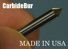 "SOLID CARBIDE BURR SJ-42 SINGLE CUT 3/32"" CONE 60 DEGREE TOOL BUR BIT for DREMEL"