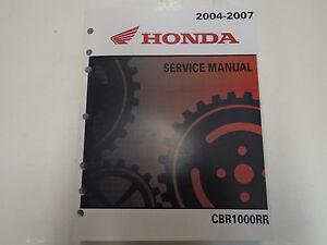 2004-2007 honda cbr1000rr motorcycle service manual.