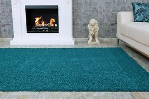 Hochflor teppich shaggy premium vers. größen rund eckig türkis ebay