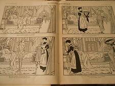Madame s'habille peignoir maquillage prête à partir Chapeau Print Art Déco 1909