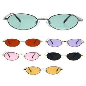 8c937475a3a Image is loading Mens-Narrow-Oval-Metal-Rim-Classic-Pimp-Sunglasses