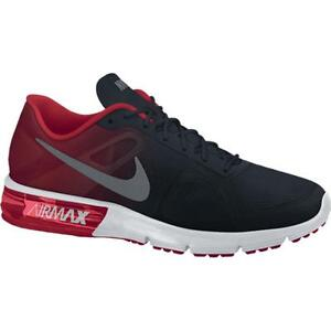 Details zu 724983 002 Boys' Nike Air Max Sequent (GS) BlackGreyRed Sizes 4 7 New In Box