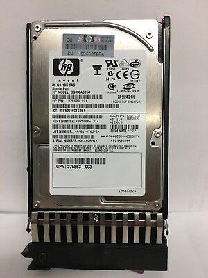 """LOT OF 2 HP 375861-B21 443177-001 72GB 10K RPM SAS 2.5/"""" HOT PLUG HDD HARD DRIVE"""